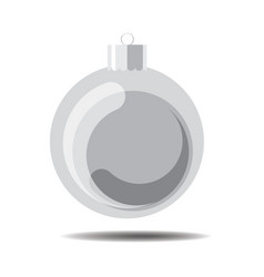 silver christmas ball vector image