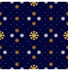 snowflake seamless pattern winter holiday vector image