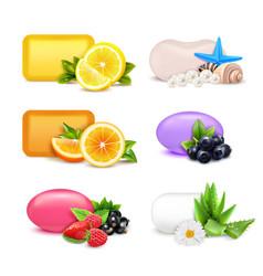 Soap aroma bars set vector