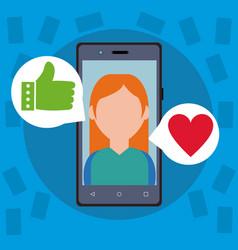 Social media from smartphone vector