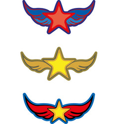 Stars with wings vector
