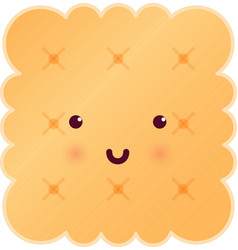 Sweet cute square tasty cookie vector