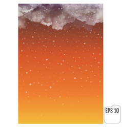 Thunderclouds and snowfall against the background vector