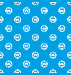 tower castle pattern seamless blue vector image