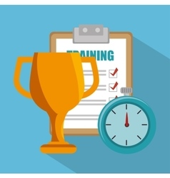Training trophy work isolated design vector
