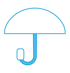 umbrella weathersymbol icon vector image