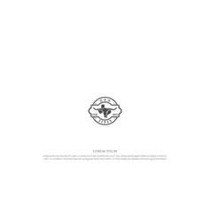vintage retro western texas badge emblem logo vector image