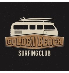 Vintage Surfing club tee design Retro t-shirt vector