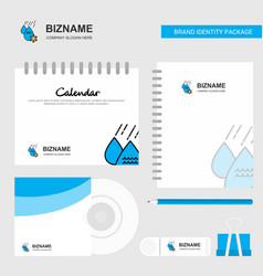 water control logo calendar template cd cover vector image