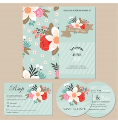 wedding cards set vector image
