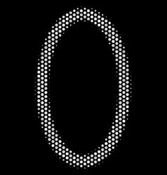 White pixelated contour ellipse icon vector
