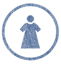 woman rounded fabric textured icon vector image