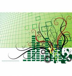 abstract background with grid vector image vector image