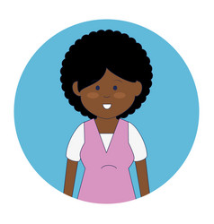 african cute woman ethnicity character vector image