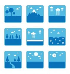 blue landscapes vector image vector image