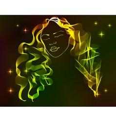 Bright hair vector image vector image