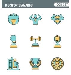 Icons line set premium quality of big sports vector image