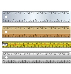 set of rulers vector image