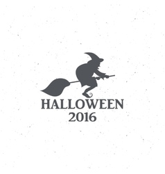 The emblem or poster for Halloween 2016 with a vector image