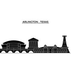 usa arlington texas architecture city vector image