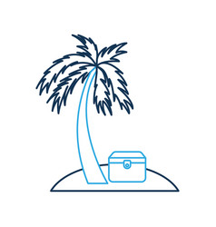 wooden trunk on the beach vector image vector image