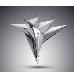 3D mesh modern style abstract background origami vector image