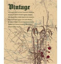 grunge japanese background vector image vector image
