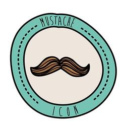 mustache design vector image