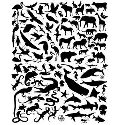Silhouette animals vector