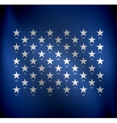 Stars for states vector image vector image