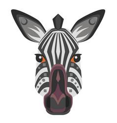 zebra head logo decorative emblem vector image