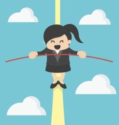 business Woman balancing vector image vector image
