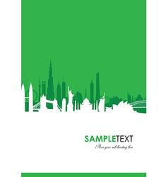 cityscape green vector image vector image