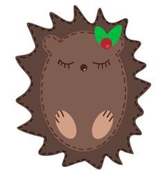 Cute cartoon hedgehog vector image vector image