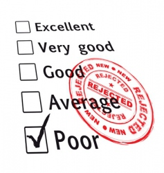 poor evaluation failed vector image vector image
