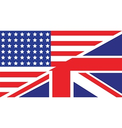 usa uk flag unity1 vector image vector image