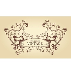 abstract antique frame vector image vector image