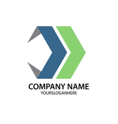 abstract arrow business company logo vector image