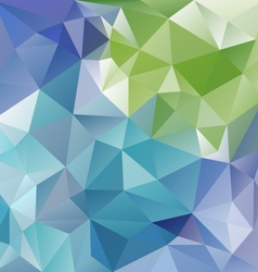 Blue green abstract polygon triangular pattern vector