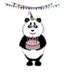 cute baby card with nice panda vector image