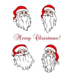 Four cheerful Santa Clouses vector image vector image