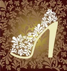 pattern of fashion Footwear vector image