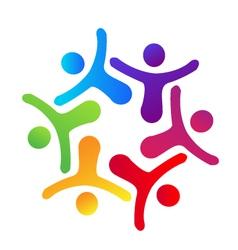 People hugging logo vector image vector image