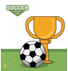 soccer sport trophy ball design image vector image vector image