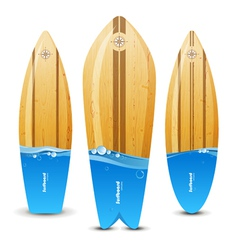 surfs with water line vector image