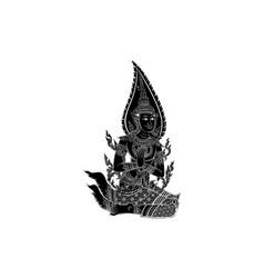 thai traditional bhudthaisawan temple vector image