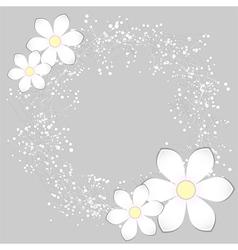 White Paper Flower Card Design vector image