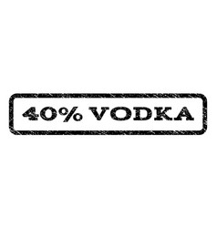 40 percent vodka watermark stamp vector