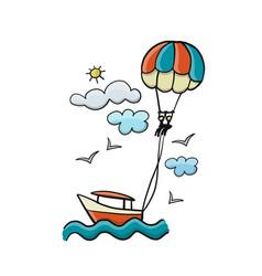 A couple parasailing vector