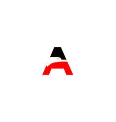a letter eagle logo vector image